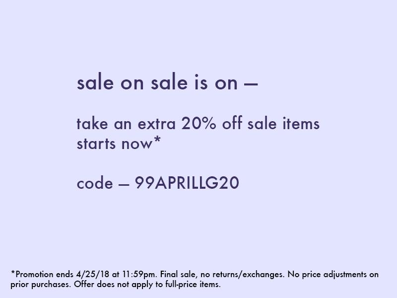 Sale on Sale — Take 20% Off Sale Styles